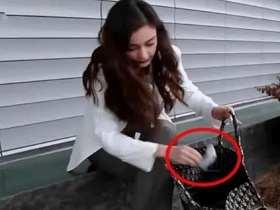 Angelababy竟拿名牌限量包當垃圾袋用?網友熱議:太豪氣了