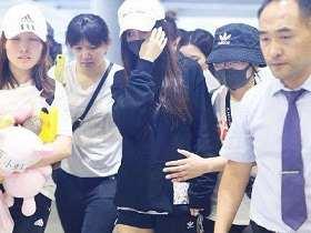 Angelababy機場疑遭保安推搡保安:我推她怎麼了